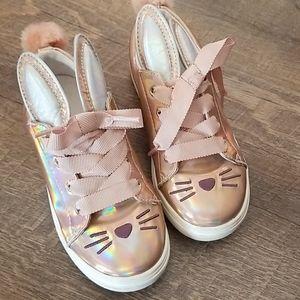 Girls Cat & Jack Bunny Shoes iridescent Spring